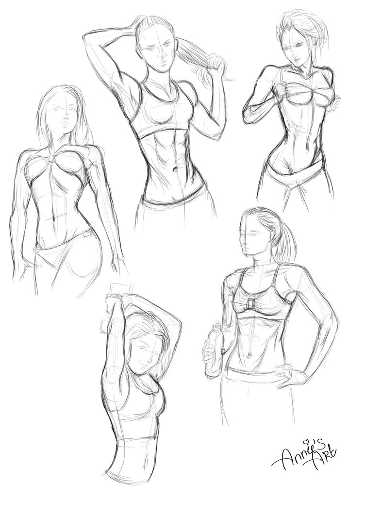 752x1063 Female's Body (Sketch) By Kennienoname