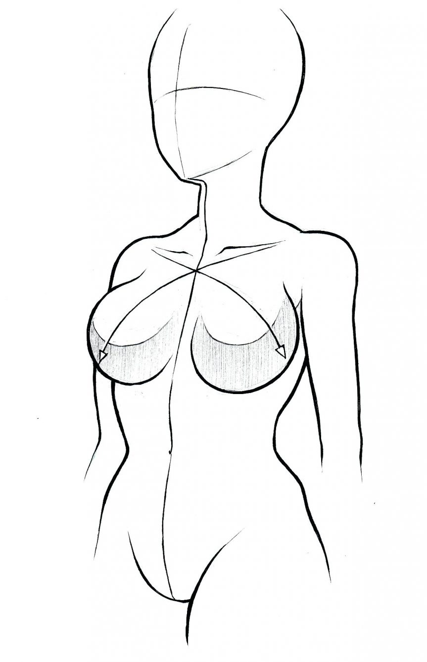 863x1339 Body Sketch Female Outline Human Fashion Front And Back Female