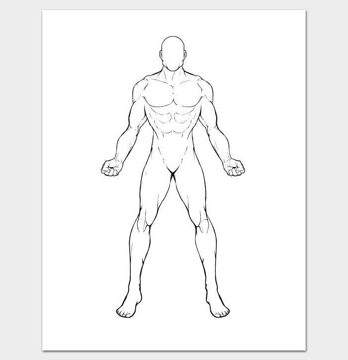 human body line drawing at getdrawings com free for personal use