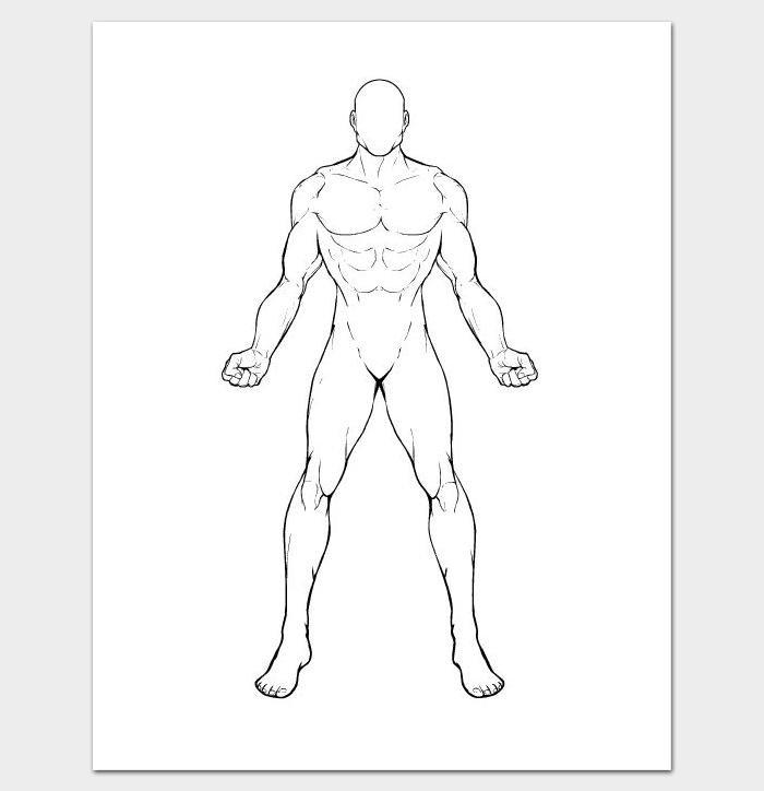 700x724 Famous Human Body Template Printable Ideas