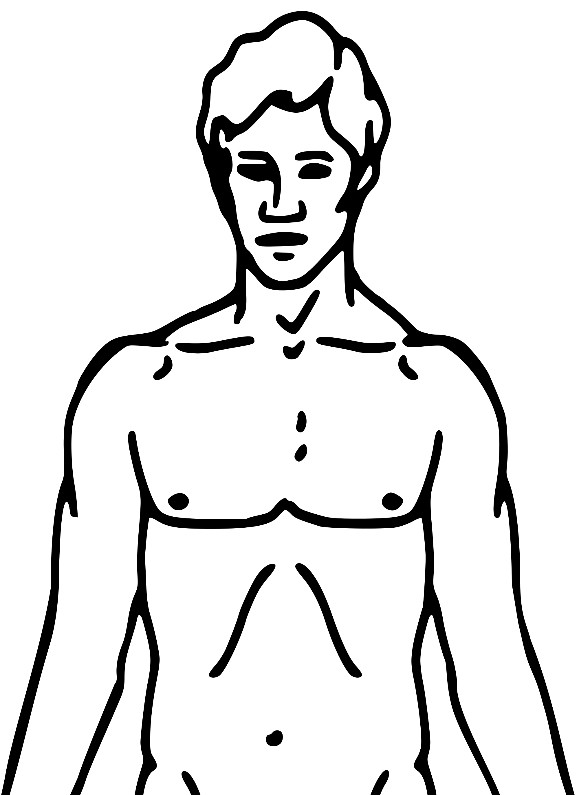 2000x2745 Filepioneer Plaque Man Upper Body As Diagram Template.svg