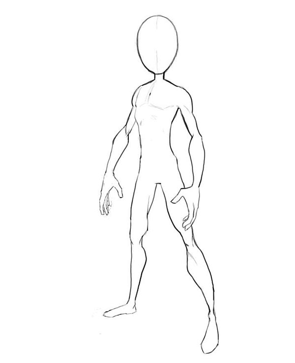 600x737 How To Draw Spiderman