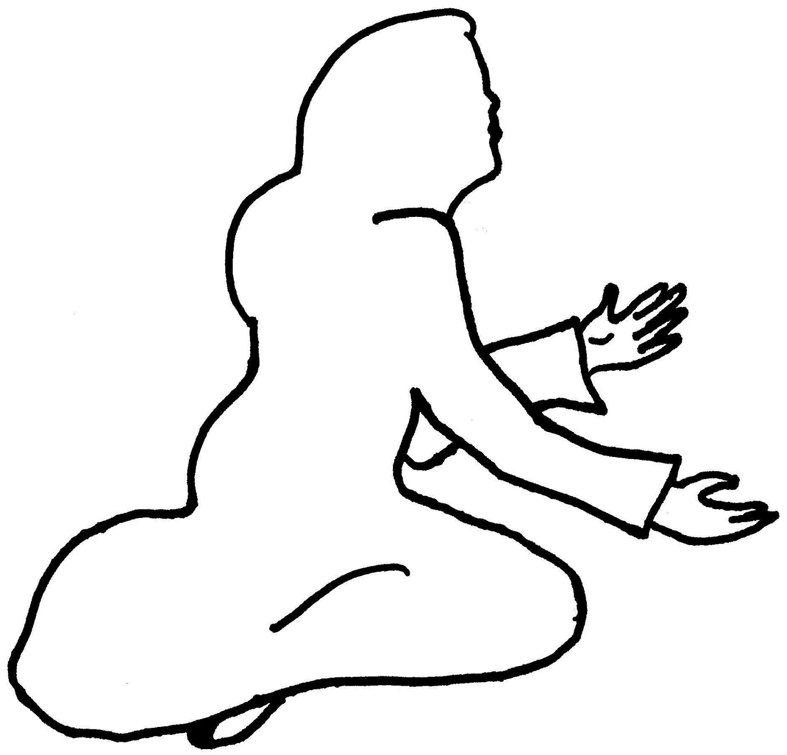 1600x1535 Free Clipart Girl Body Drawing Outline