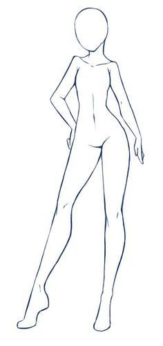 236x499 Anime Girl Body Outline(I Don'T Think Drawing In The Right Is