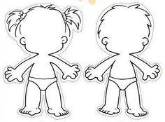236x174 Human Body Outline For Kids Fun Preschool Ideas My Classroom