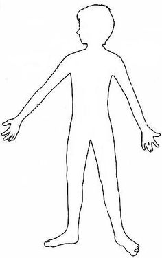 236x375 Outline Picture Parts Of The Human Body. Great For Students
