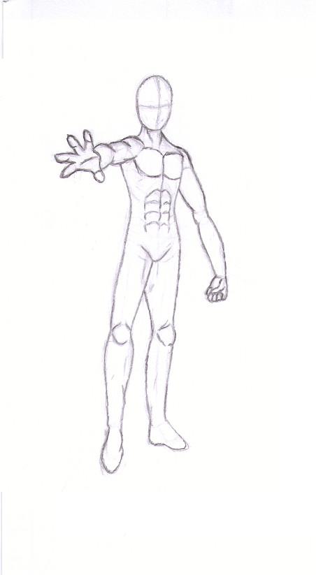 452x823 Anime Male Body Sketch By Sierrya