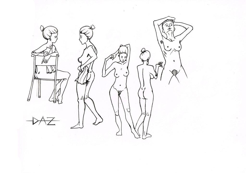 1024x720 Woman Body Sketch By Daz Illustration