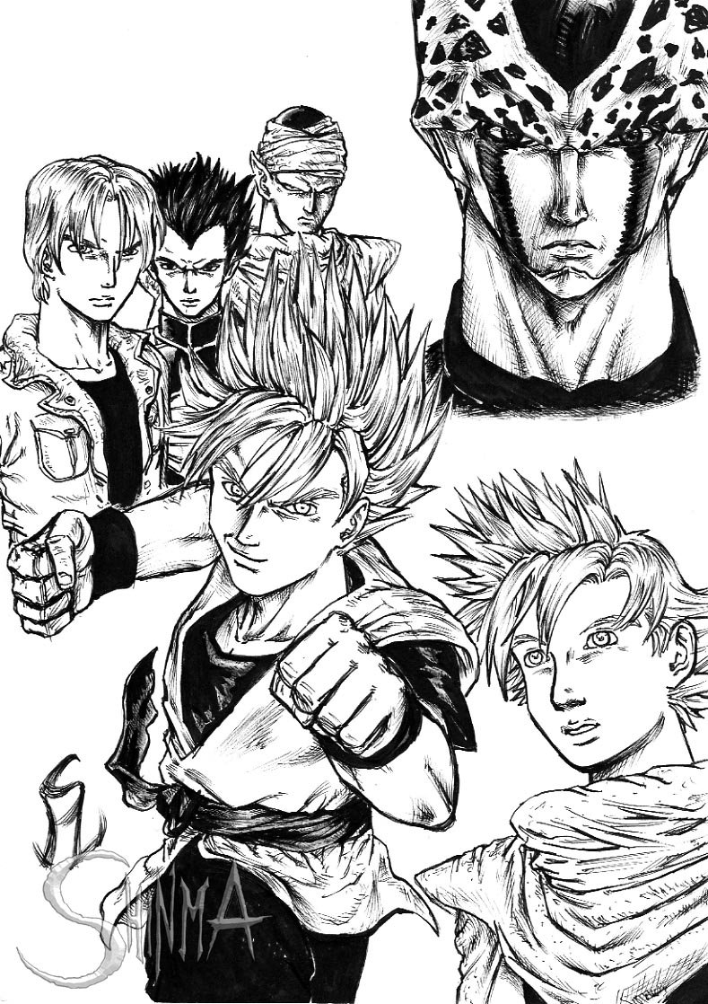 789x1118 Liveactionstyle Dbz Cell Saga By Matiassoto