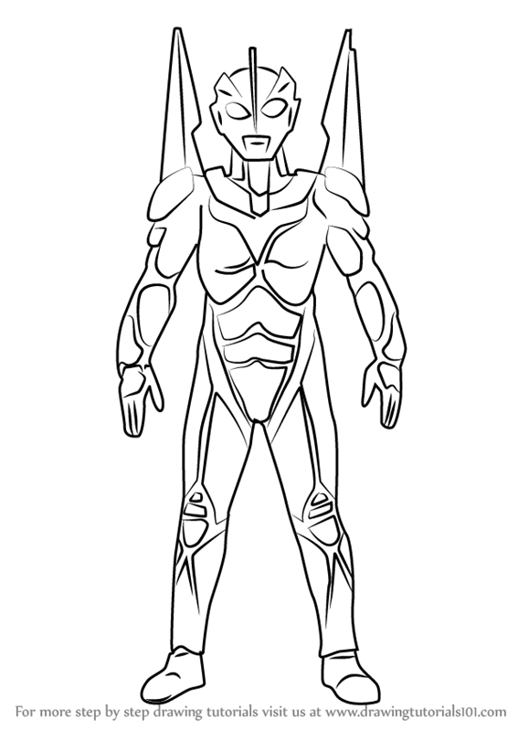 567x800 Learn How To Draw Ultraman Noa (Ultraman) Step By Step Drawing