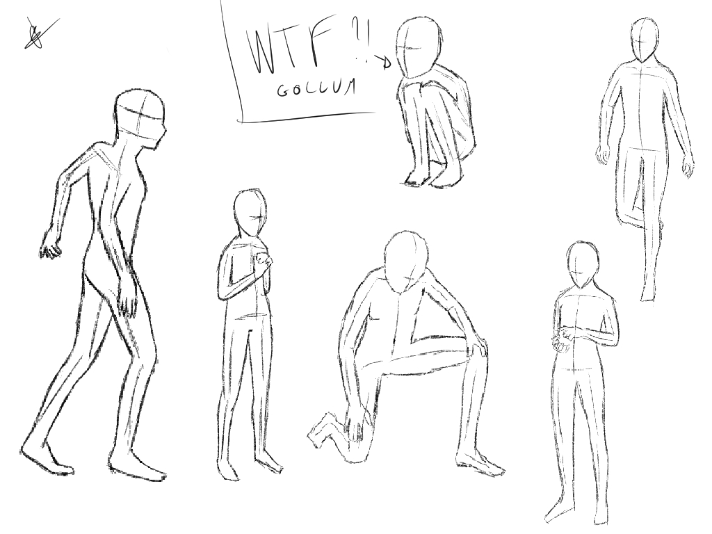 1024x768 Sketch Human Pose By Fallingnt