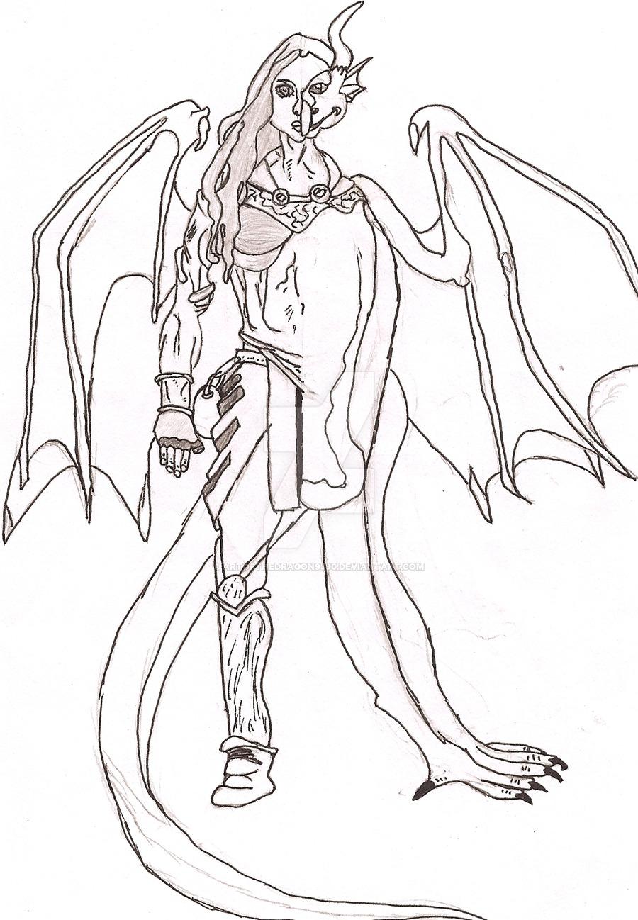 900x1298 Half Human And Half Dragon By Artofthedragon9590