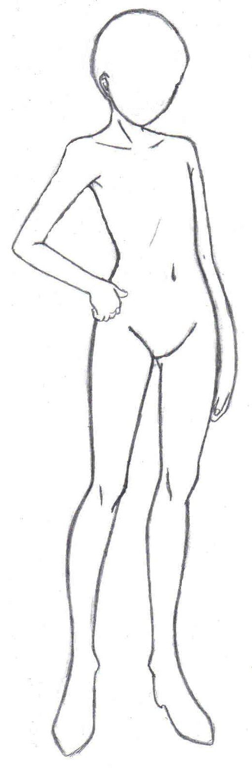 510x1564 Drawing Outline Human Body Simple Human Drawing Picture