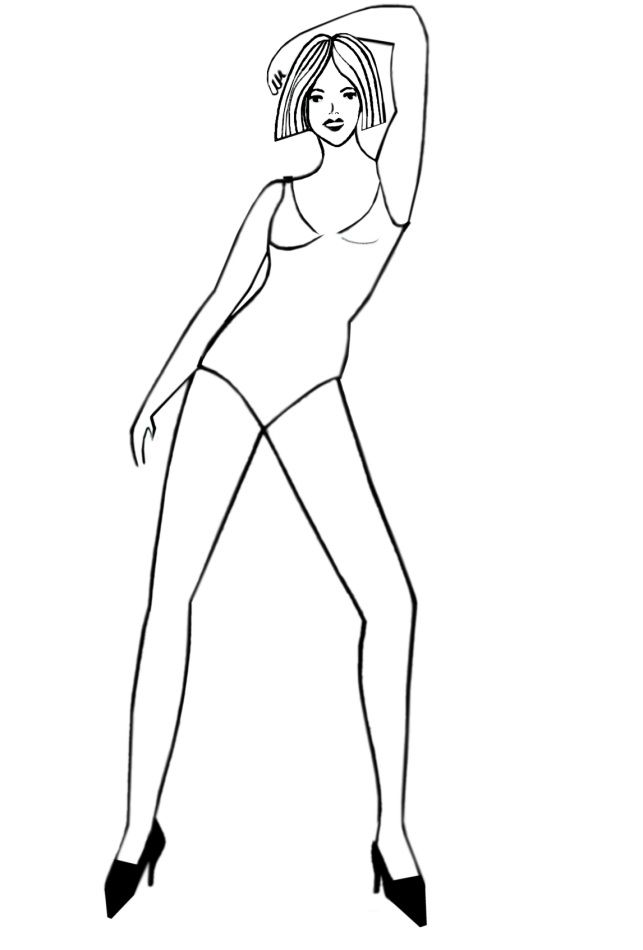 643x950 Human Body Outline Sketch