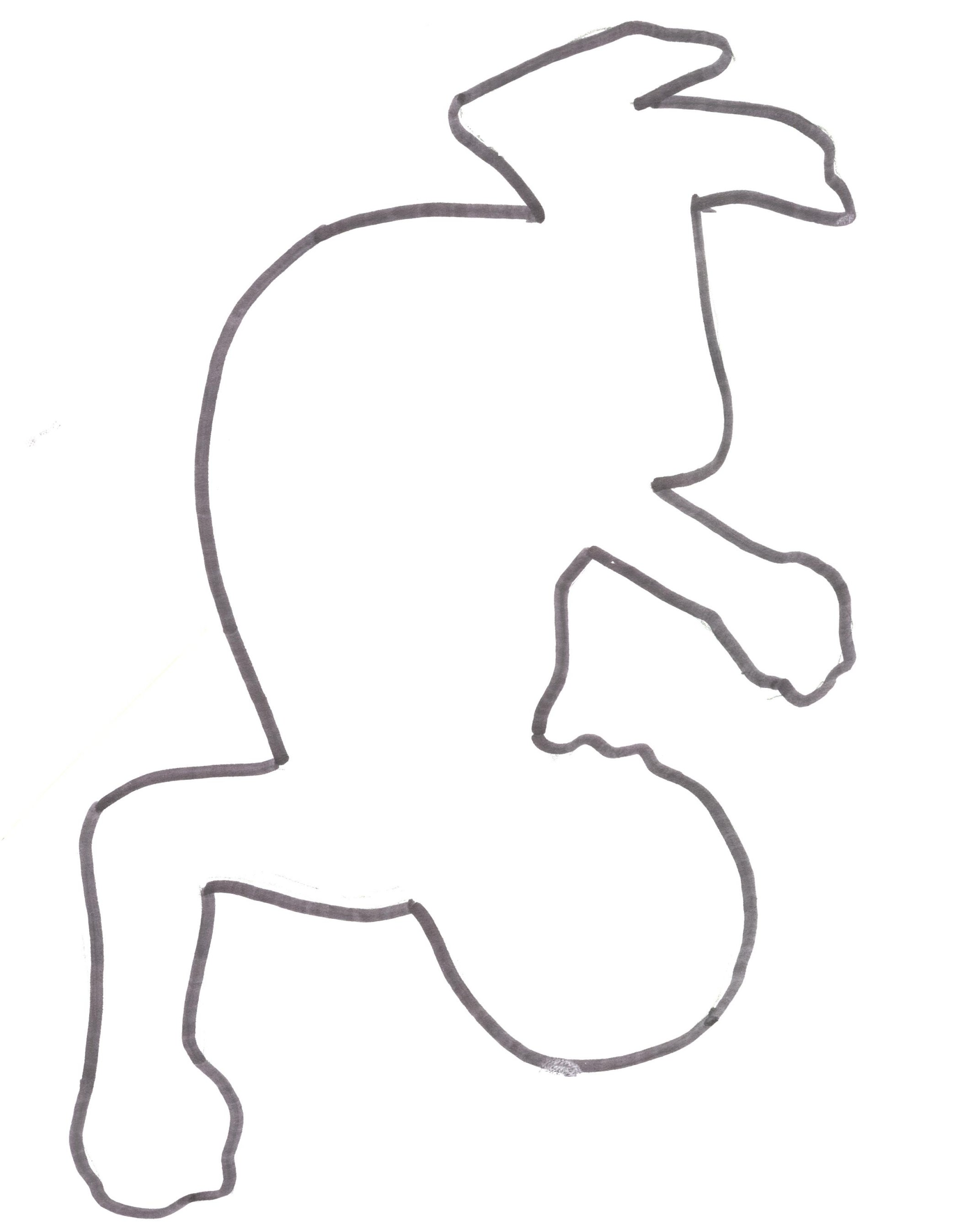 2100x2695 Person Outline Template