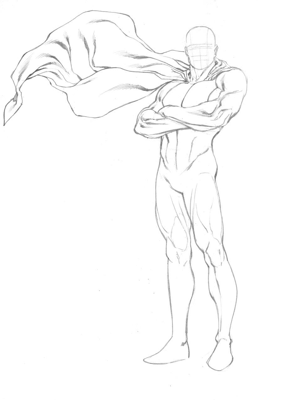 900x1275 More Superhero Figure Templates Robert Atkins Art