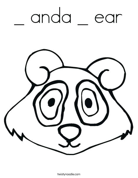 468x605 Fresh Ear Coloring Page Or Panda Bear Head 21 Human