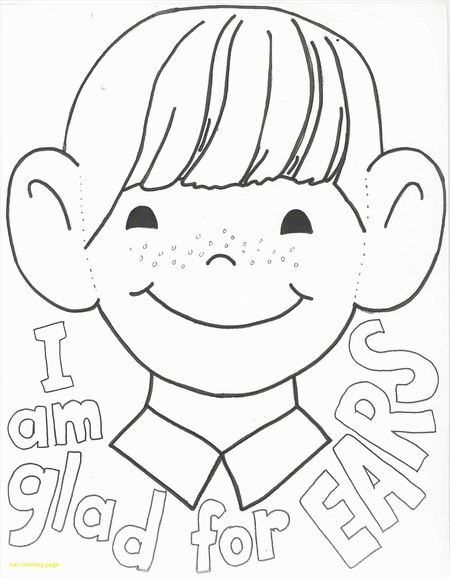 1899x2437 Ear Coloring Page With Printable 2014 Human Pages For