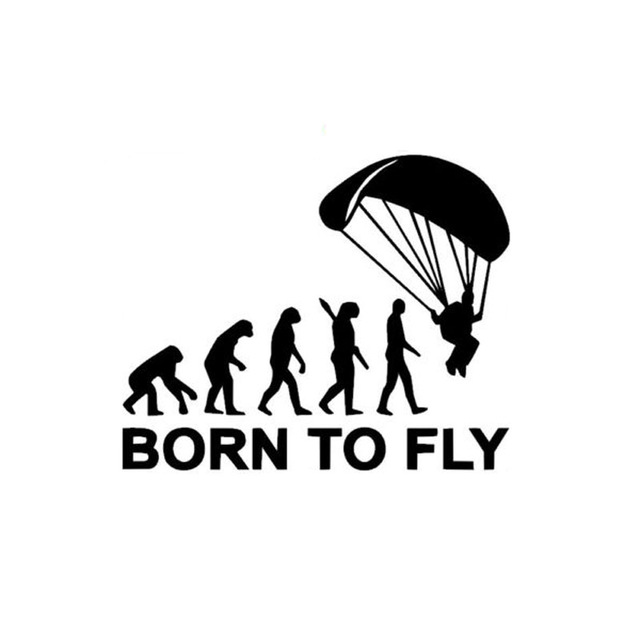 640x640 14.5cm12cm Personalized Human Evolution Born To Fly Funny Car