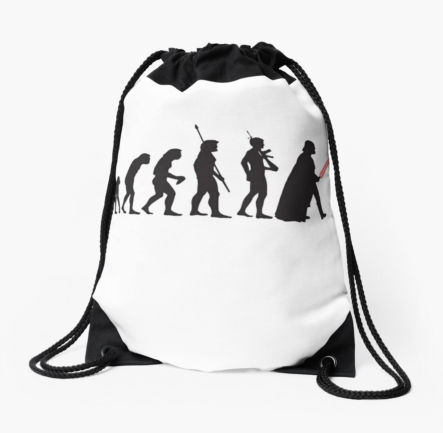 1435x1404 Human Evolution Star Wars Drawstring Bags By Shahed Miah Redbubble