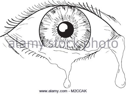 426x320 Drawing Sketch Style Illustration Of An Eyeball On Fire Viewed