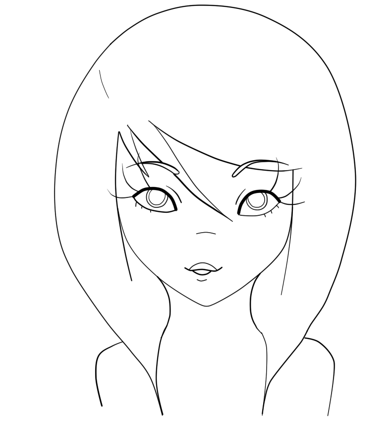791x883 Eye Coloring Page For Danni By Amethystbead Easy Drawings