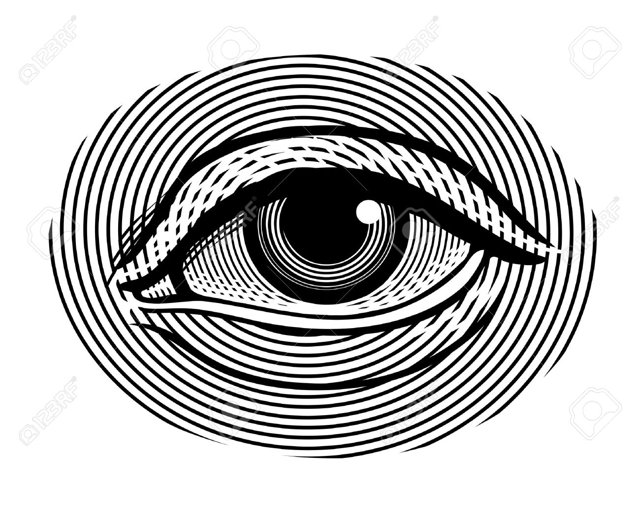 1300x1043 Illustration Of Human Eye In Vintage Engraved Style Royalty Free