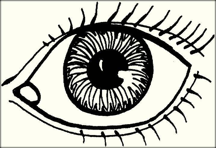 718x491 Eye Coloring Pages Coloring Page For Kids