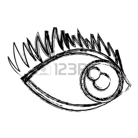 450x450 Cartoon Eye Human Look Watch Icon Vector Illustration. Royalty