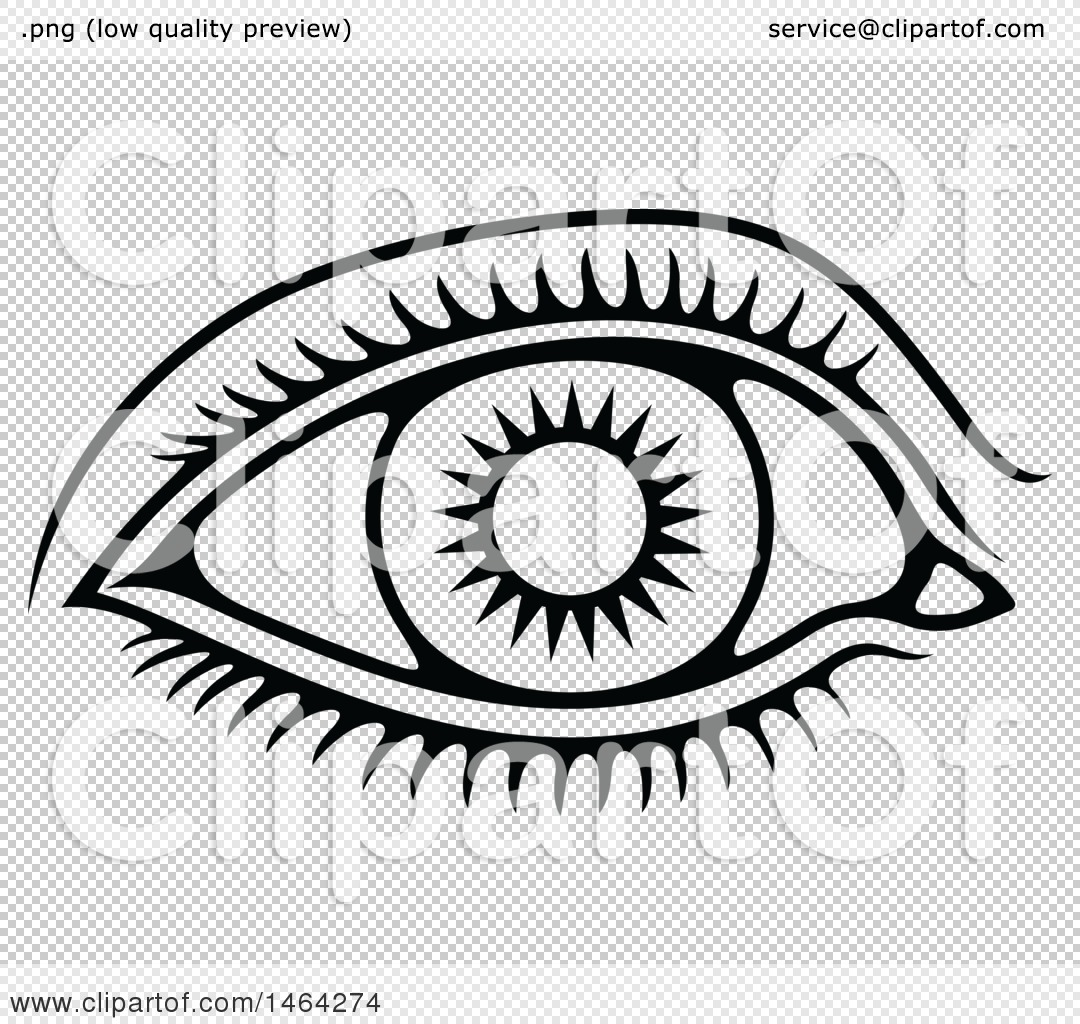 1080x1024 Clipart Of A Black And White Human Eye
