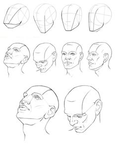 236x294 Face Drawing Reference (Drawing Step) Drawings 1