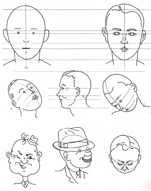 500x629 How To Draw Cartoon Faces