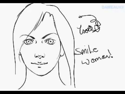 480x360 How To Draw A Human Face (Female)