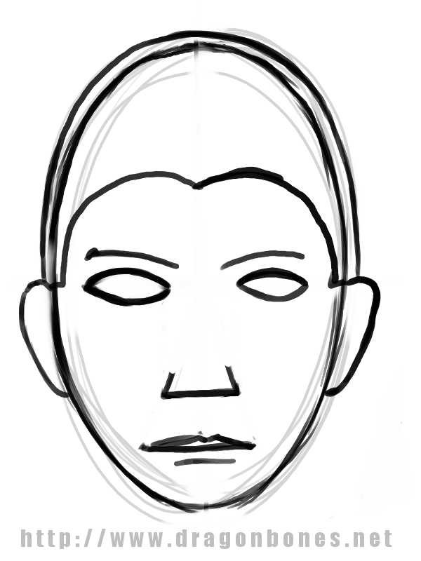 600x800 Human Face Line Drawing Images