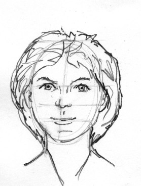 278x368 Pinkmeister Presents, Lesson, Draw The Face, Guideline Method, 3