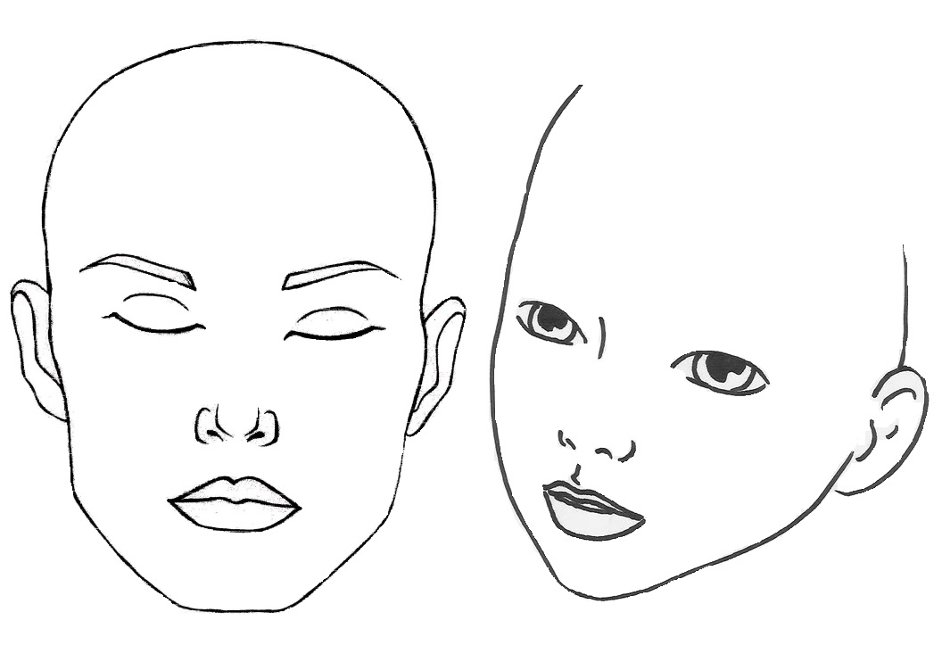 human face outline drawing at getdrawings com free for personal