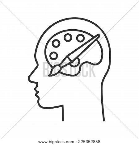 450x470 Human Head Palette Brush Linear Vector Amp Photo Bigstock