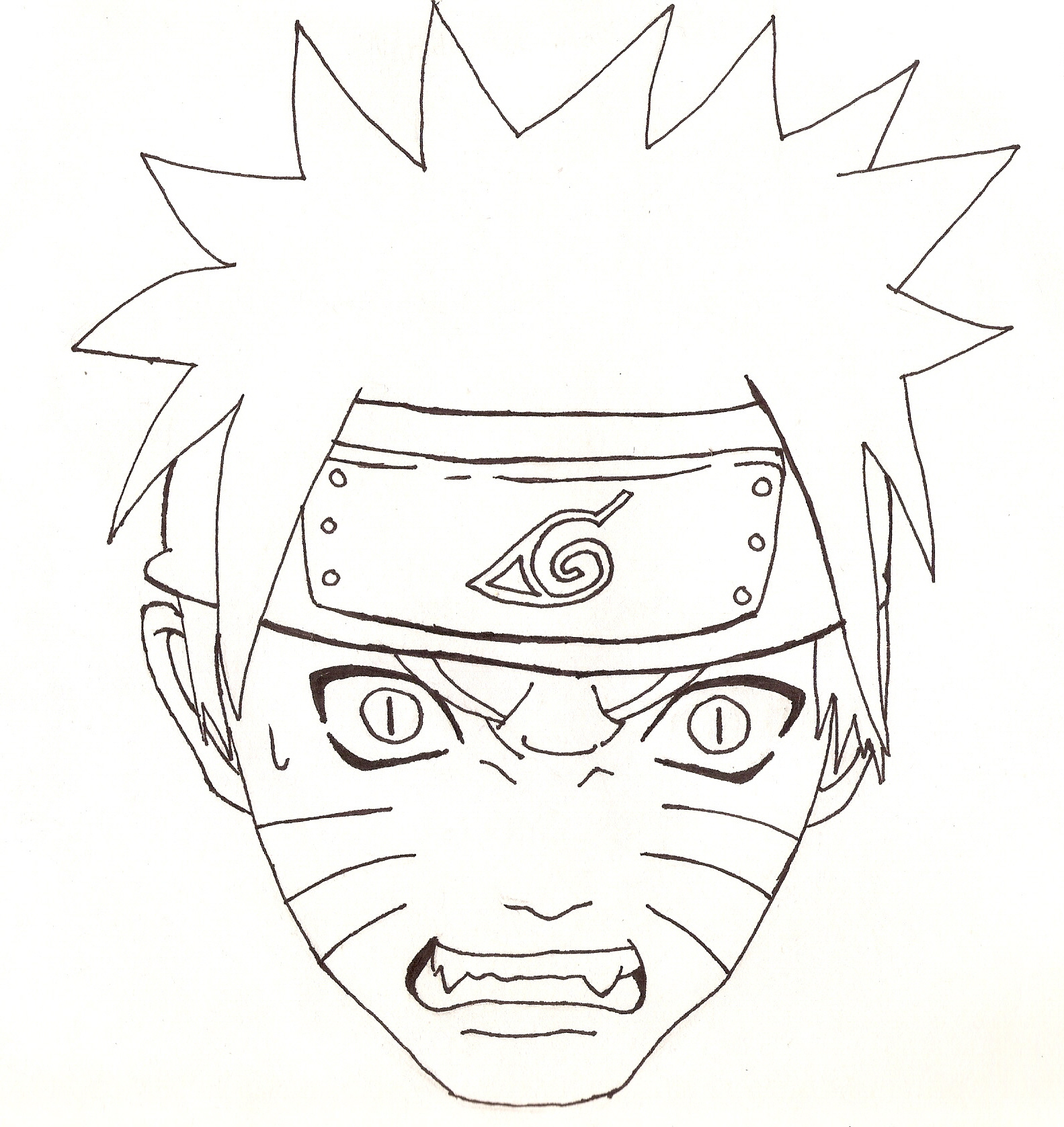 1583x1677 Naruto Head Outline By Cheshire5