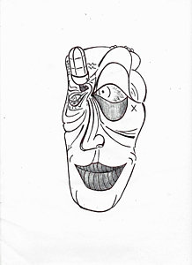 218x300 Abstract Faces Drawings