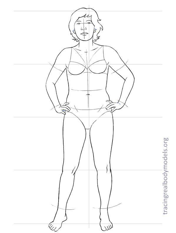 Human Figure Drawing Template