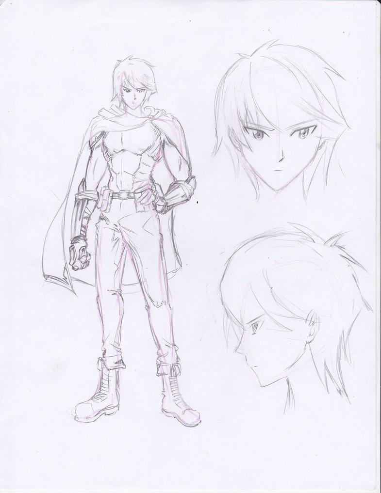 785x1017 Ensis Noctis Human Form Sketch By Dansiel