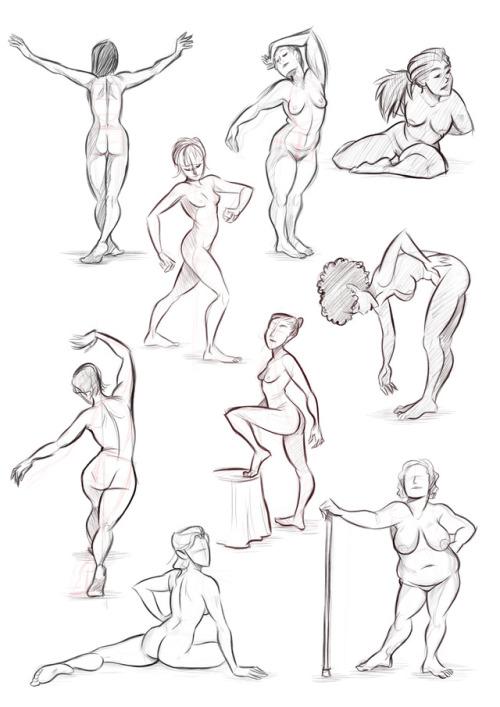 500x707 Female Form Sketch Tumblr