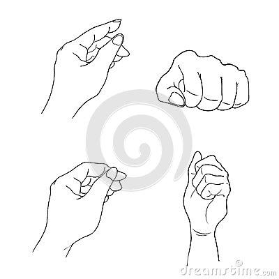 400x400 Drawn Hand Gesture Human Hand