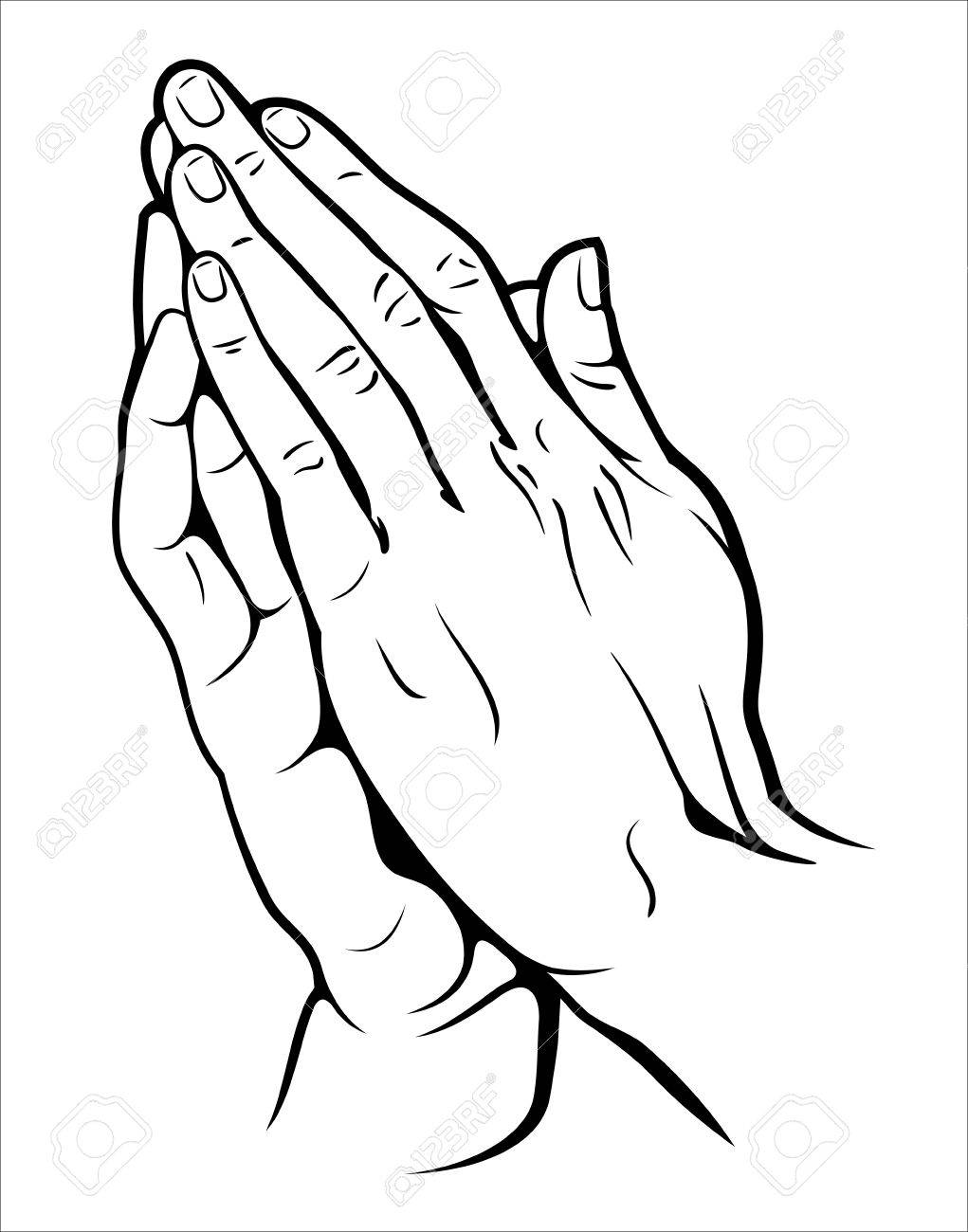 1021x1300 Human Hands Folded In Prayer Royalty Free Cliparts, Vectors,