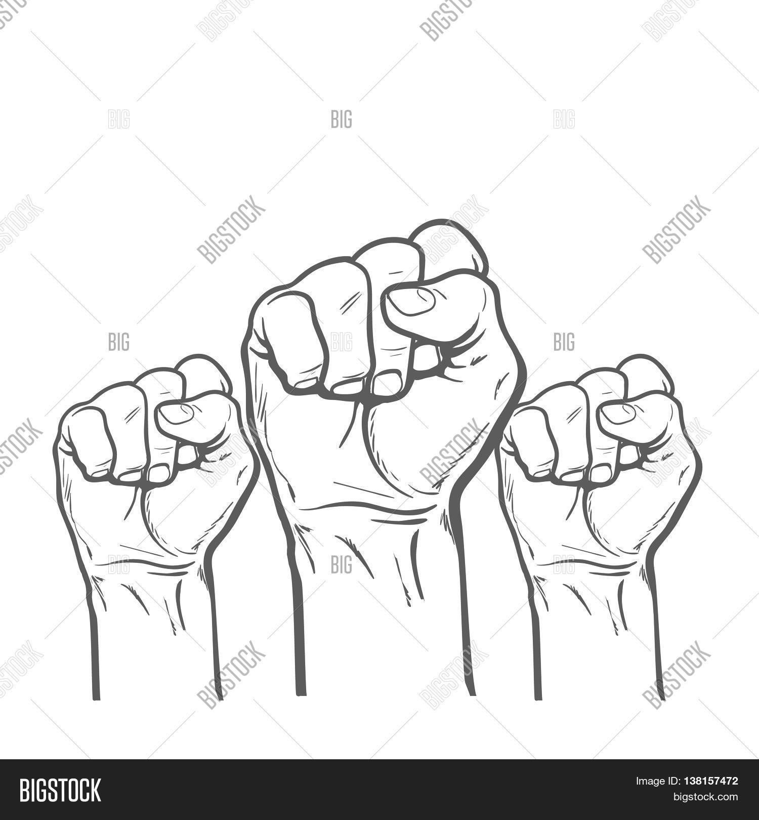 1500x1620 Many Man's Fist On Red Background. Image Amp Photo Bigstock
