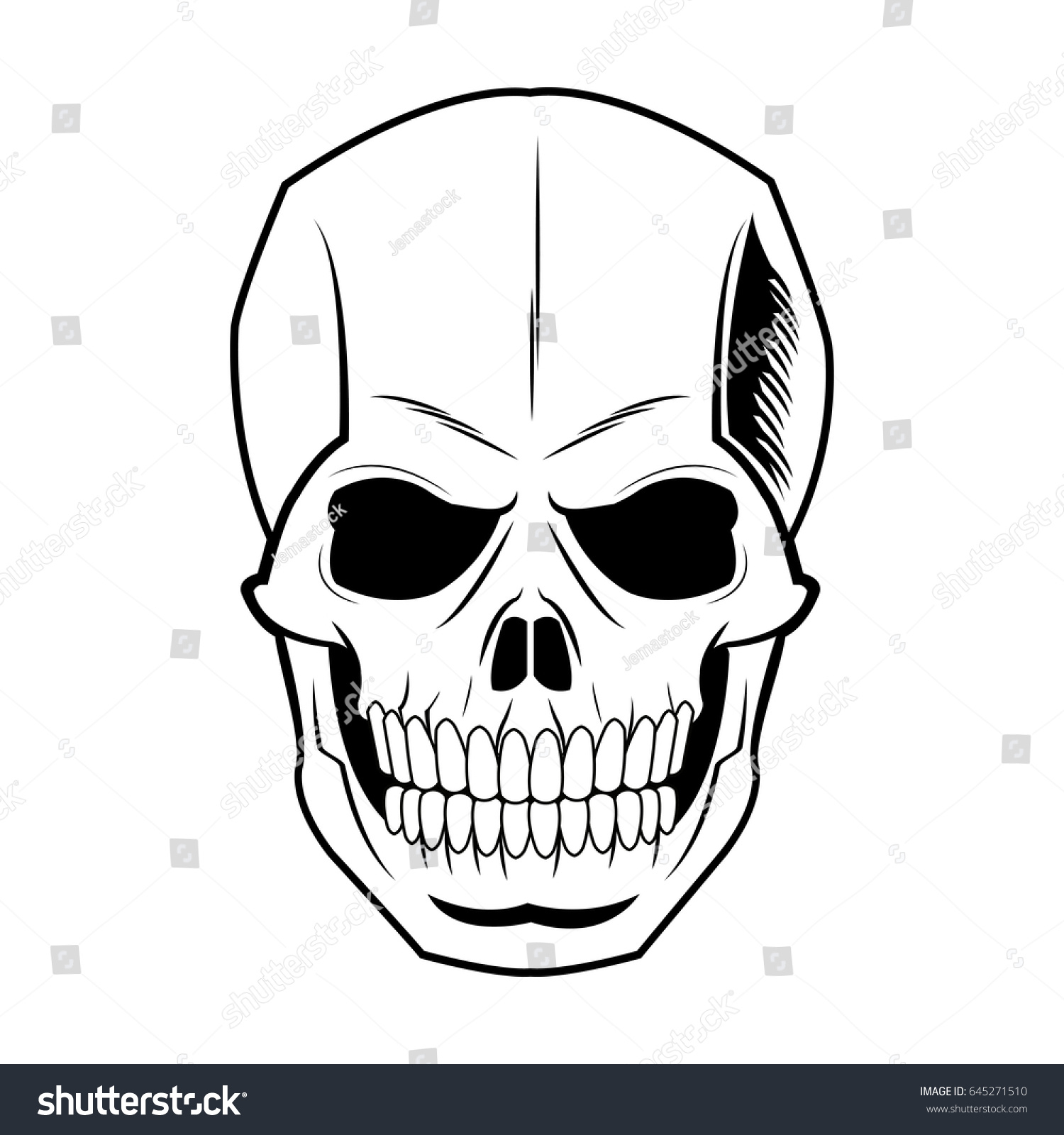 1500x1600 Head Skeleton Drawing Skeleton Human Head Vintage Bone Stock
