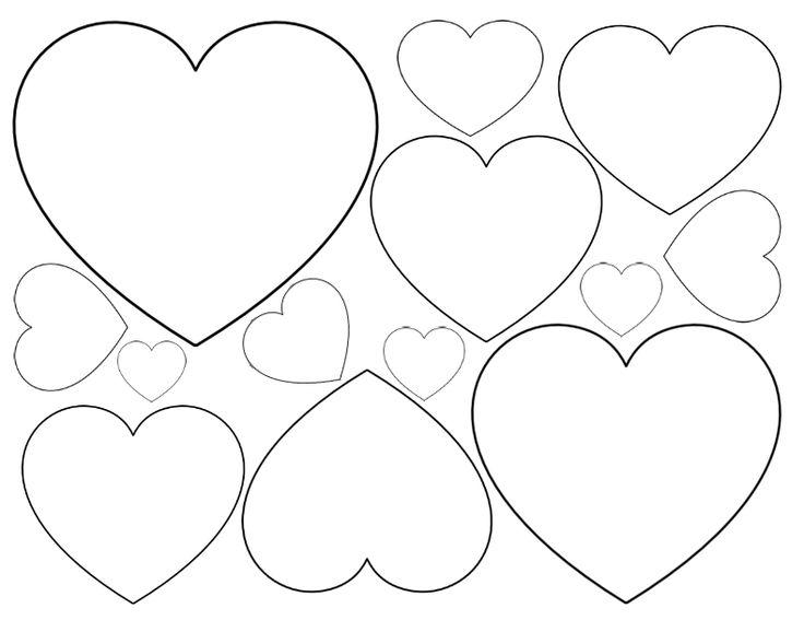 736x567 Heart Cut Out Printable Anantomically Correct Outline