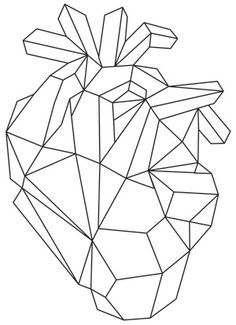 236x325 Human Heart Pattern. Use The Printable Outline For Crafts