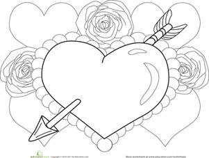 301x227 Valentine Heart Worksheet