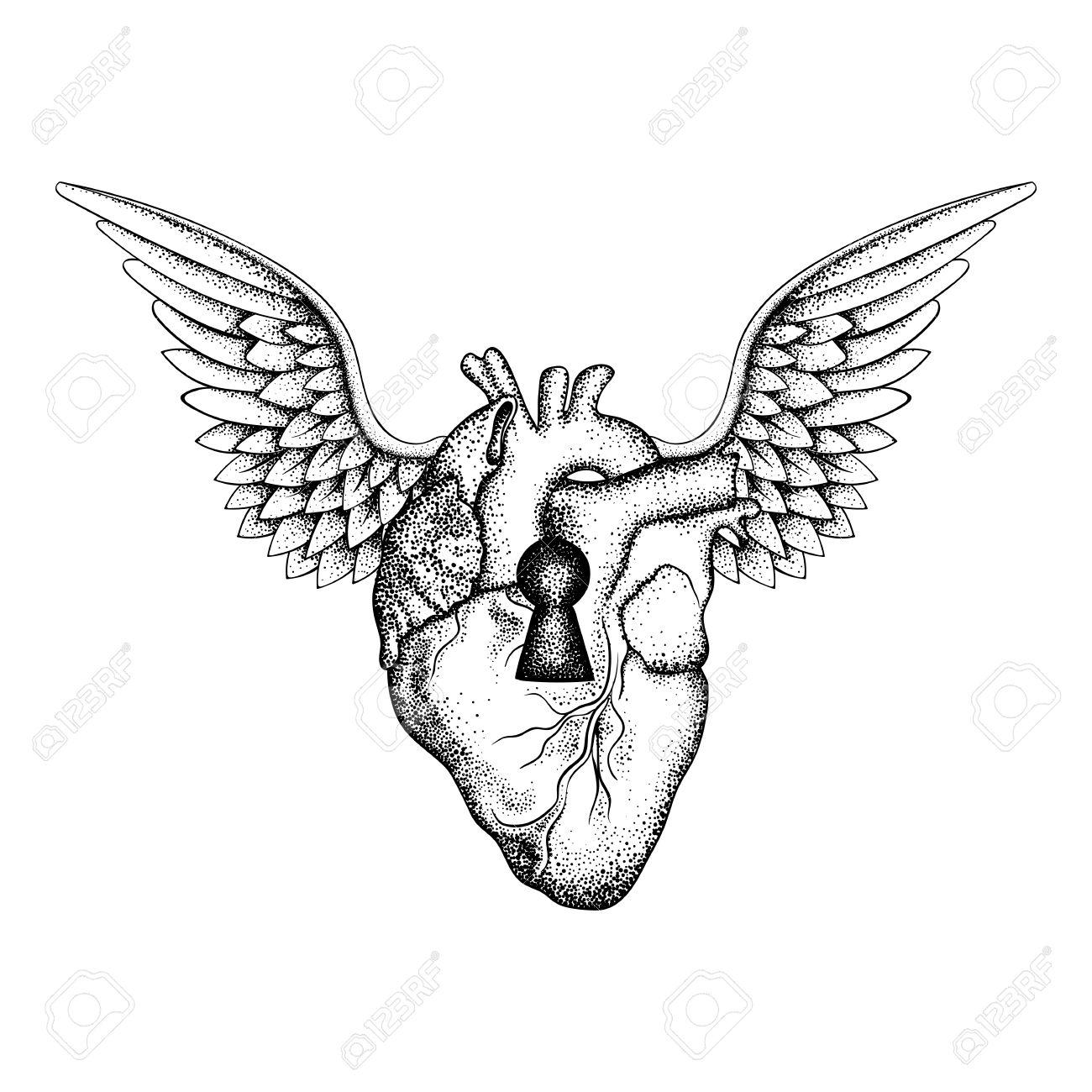 1300x1300 Drawn Heart Wing